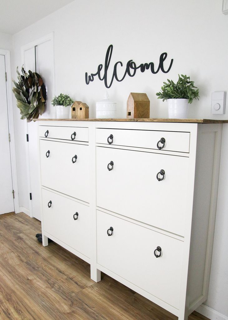 Create Extra Storage In The Entryway - ELIZABETH JOAN DESIGNS #ikeahacks