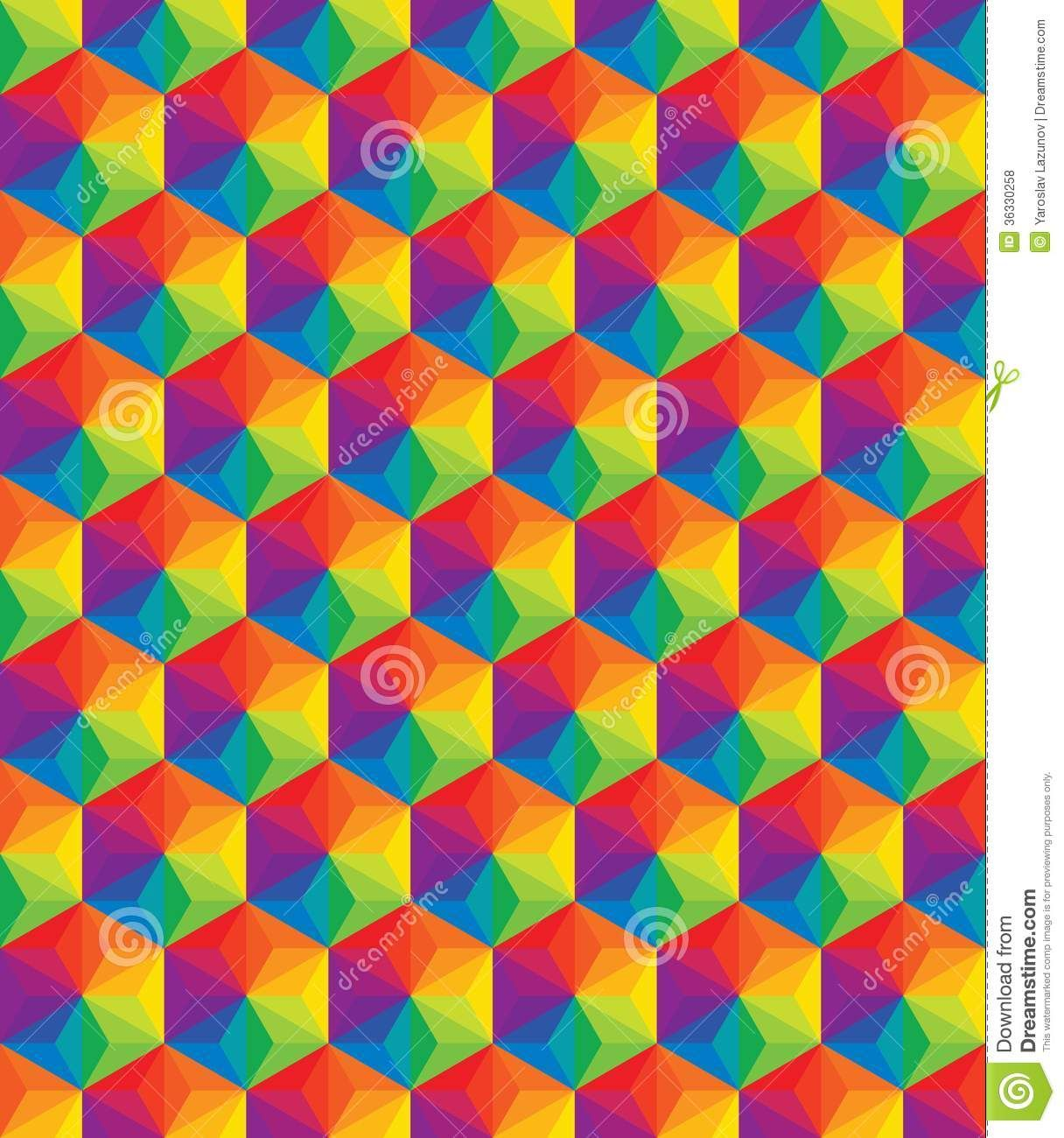 vector colorful pattern of geometric shapes royalty free stock