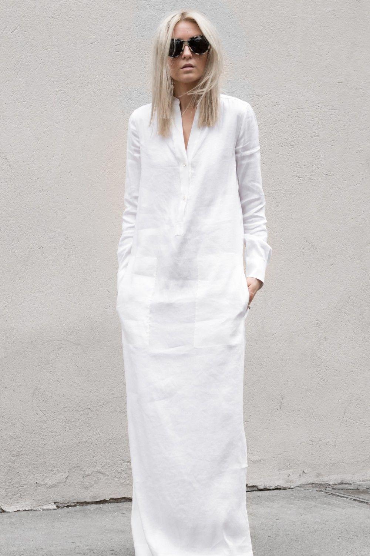 White Linen Dresses