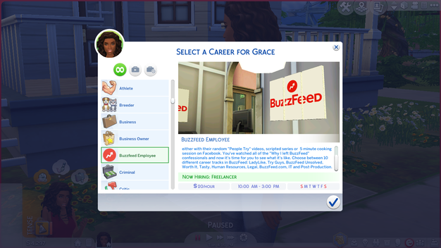 BuzzFeed Career Mod   The Sims 4   Sims   Sims 4, Sims 4 jobs, Sims