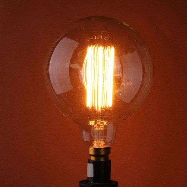 G95 E27 60W 110/220V 138mm x 95mm Incandescent Bulbs Retro Edison Bulb