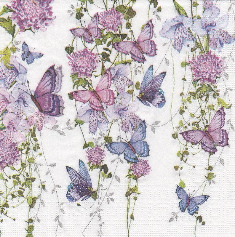 Paper Napkin - Nigel Quiney: Butterfly Splash | Napkin Shop