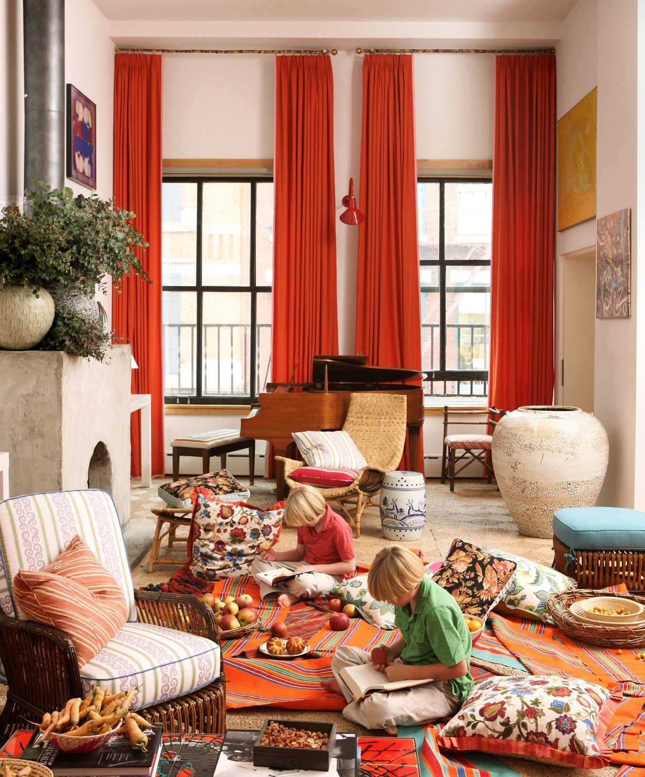 Curtains Inspirationorange Curtains For Snazzy Window Treatment Interesting Orange Curtains For Living Room Inspiration Design
