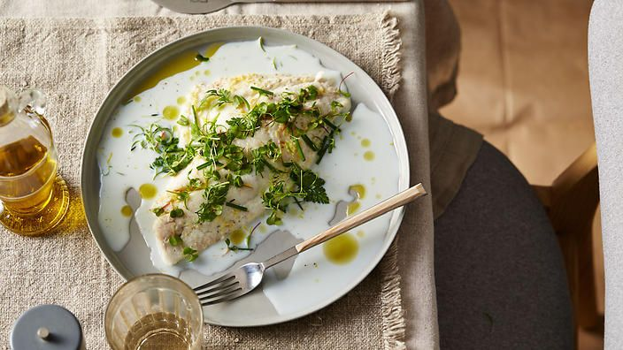 Buttermilk Poached Snapper With Spring Herbs Easy Seafood Recipes Poached Fish Recipes Seafood Dish Recipes