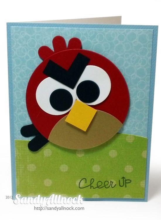 Birthday Bash Angry Bird Card Kids Birthday Cards Cards Handmade Punch Cards