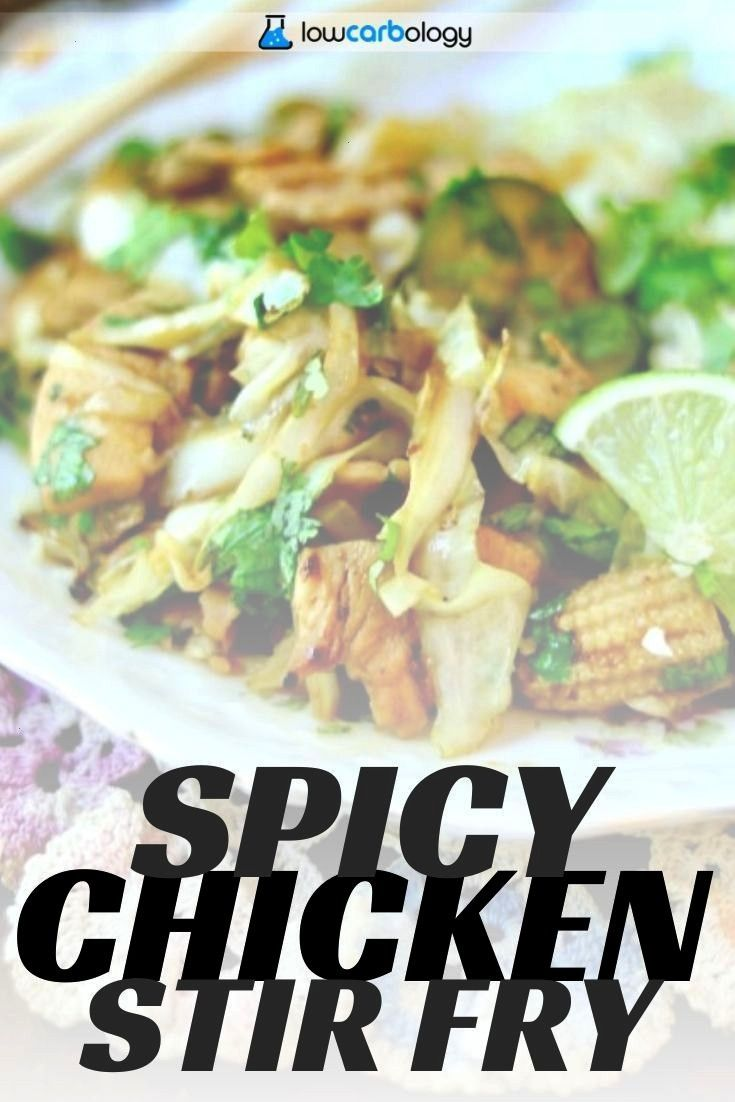Chicken Stir Fry with CauliCous Low Carb Asian  Lowcarbology Spicy Chicken Stir Fry with CaulicousIts quick and easy with just 3 grams of net carbs Youll have this on the...
