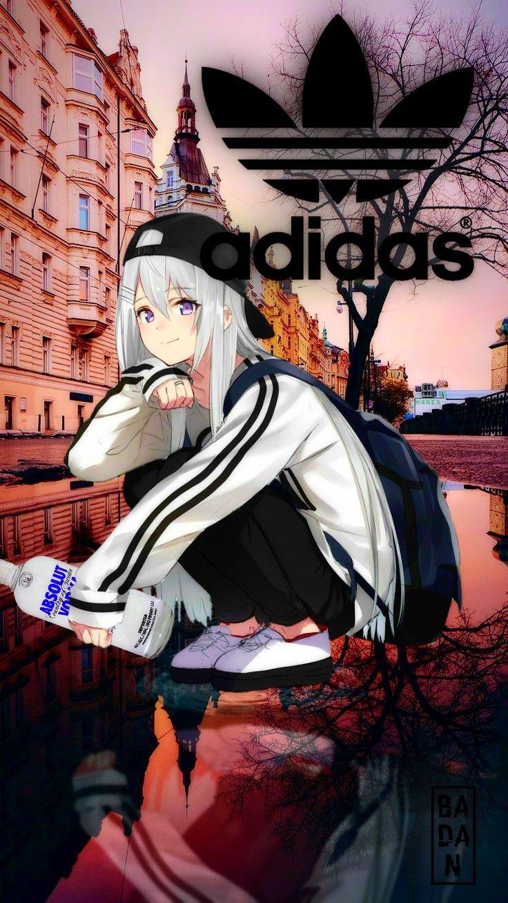 Related png images · anime drawing manga, anime girl, cg artwork, black hair, cartoon png thumbnail. Hoodie Anime Girl Adidas - Anime Wallpaper HD