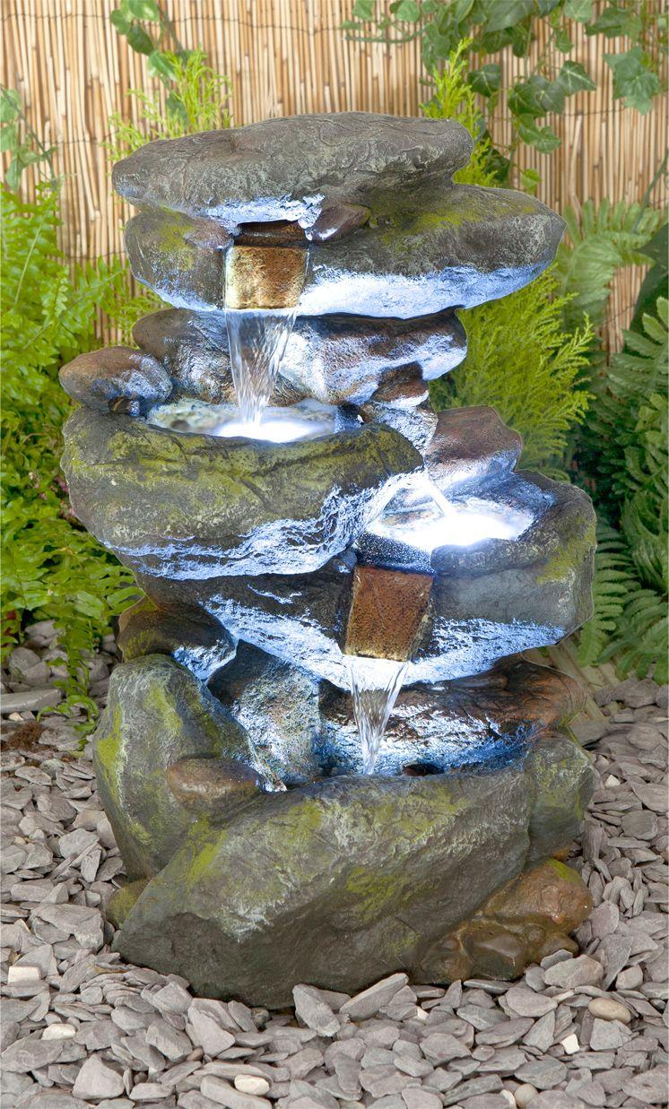 Bekko Drie Lagen Waterval Met Led Verlichting 189 99 Wasserspiel Garten Wasserelemente Im Freien Aussenbrunnen