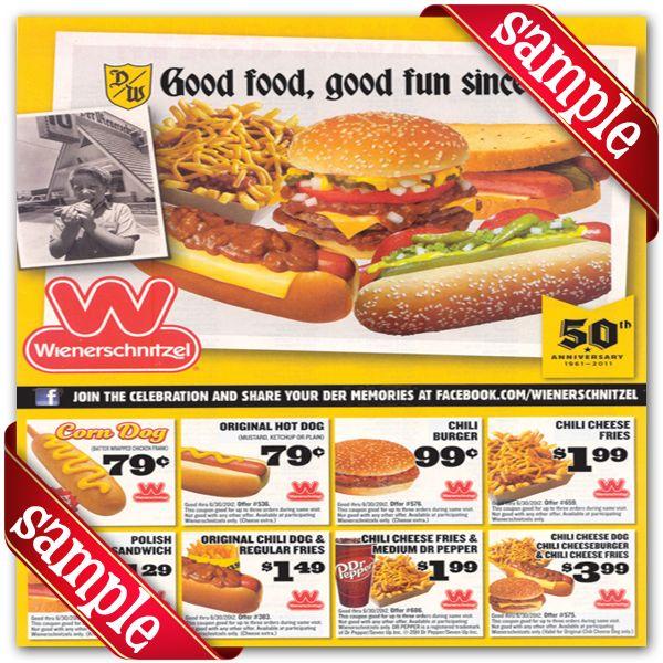 photo regarding Wienerschnitzel Printable Coupons known as Wienerschnitzel Coupon codes : December 2016 der Schinitzel