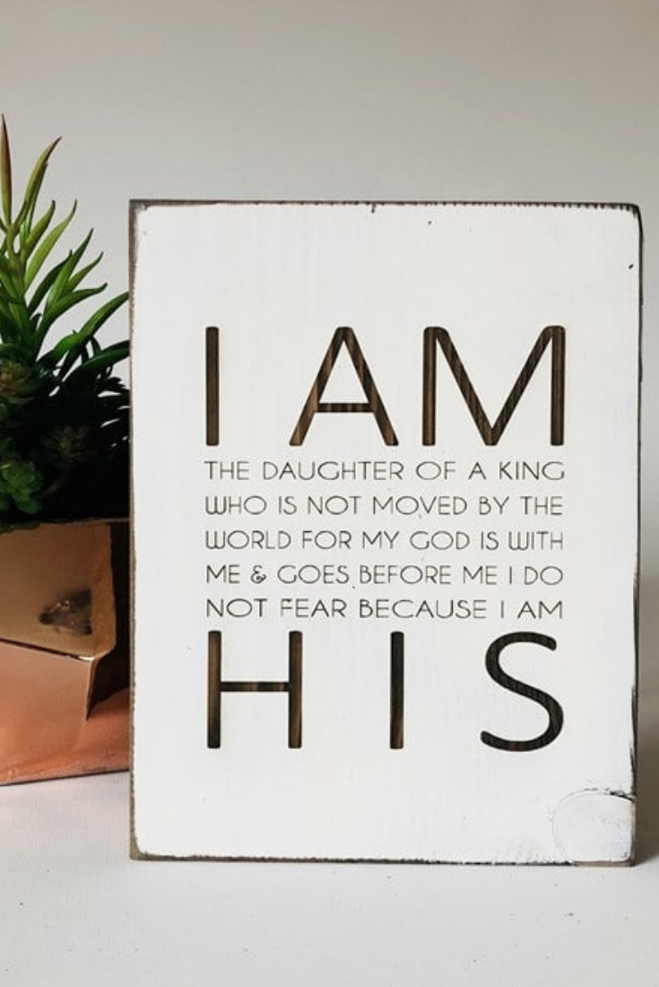 Love I Am The Daughter Of A King Christian Wall Decor Faith Based Decor Farm Christian Wall Decor Faith Based Decor Sign Quotes
