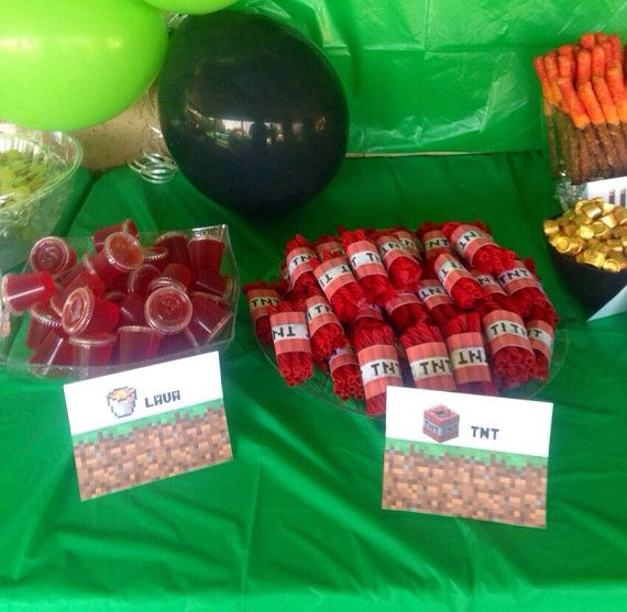 Minecraft party pdf package instant download minecraftparty minecraft birthday party food ideas and forumfinder Images