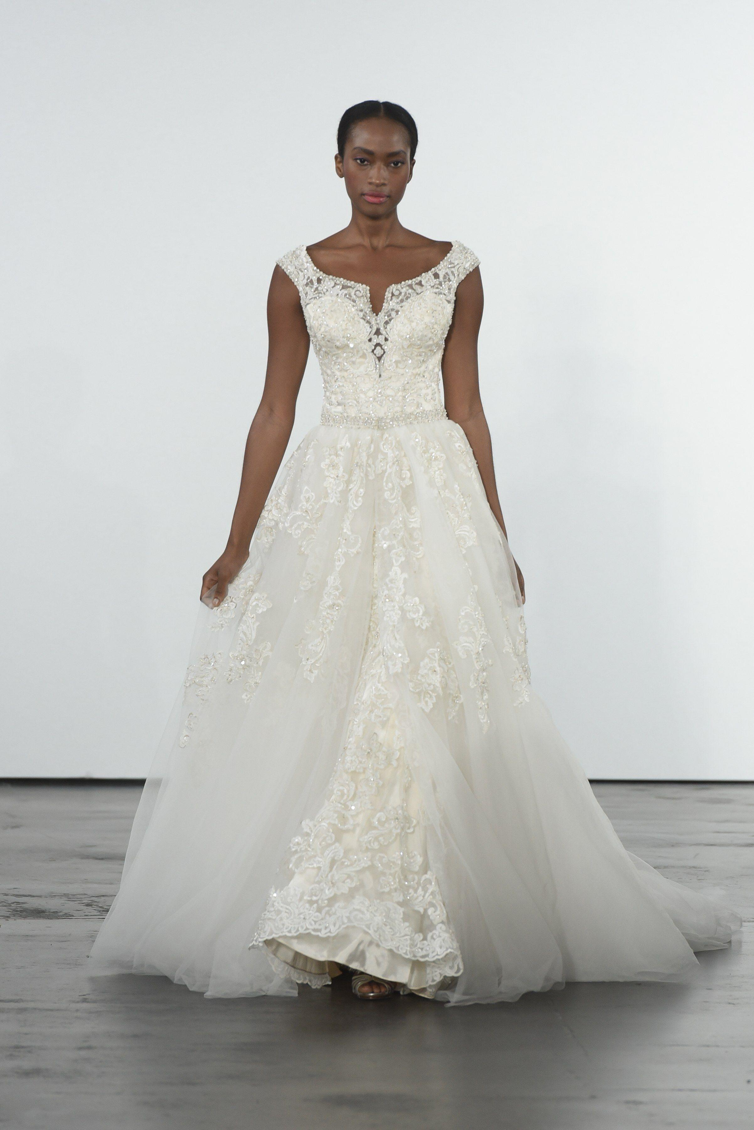 245fadd3b170 Dennis Basso for Kleinfeld Bridal   Wedding Dress Collection Fall 2018