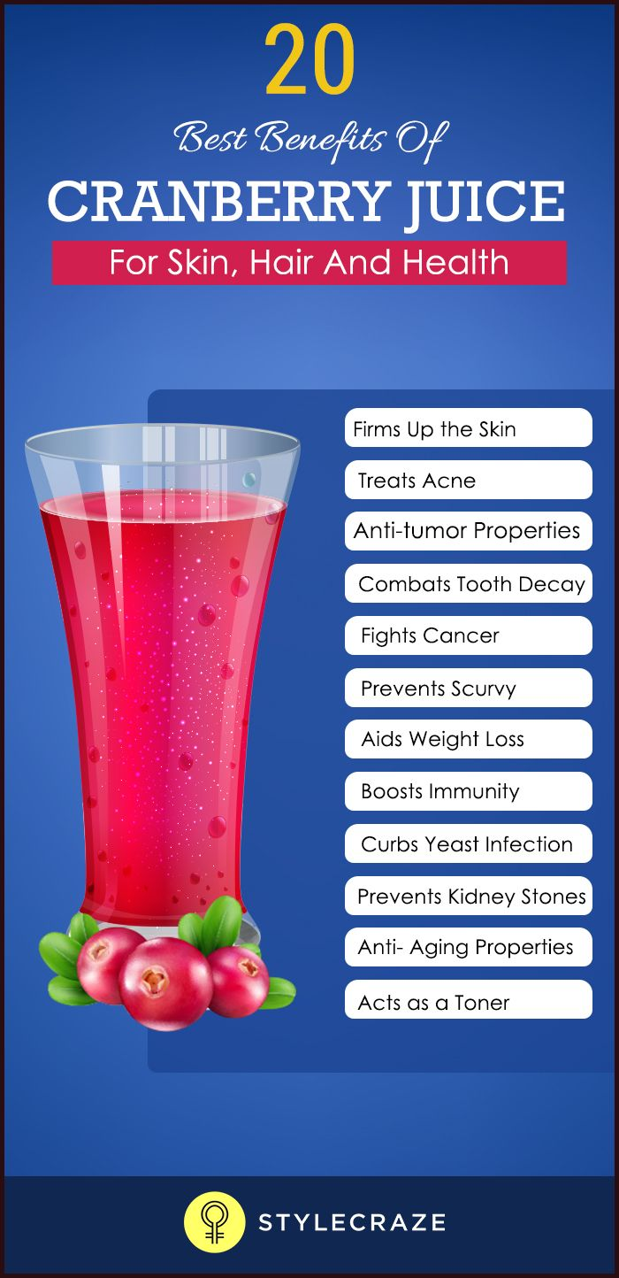 12 benefits that will make you choose cranberry juice for