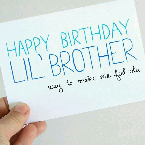 Happy Birthday Little Brother Birthday Birthday Cards For