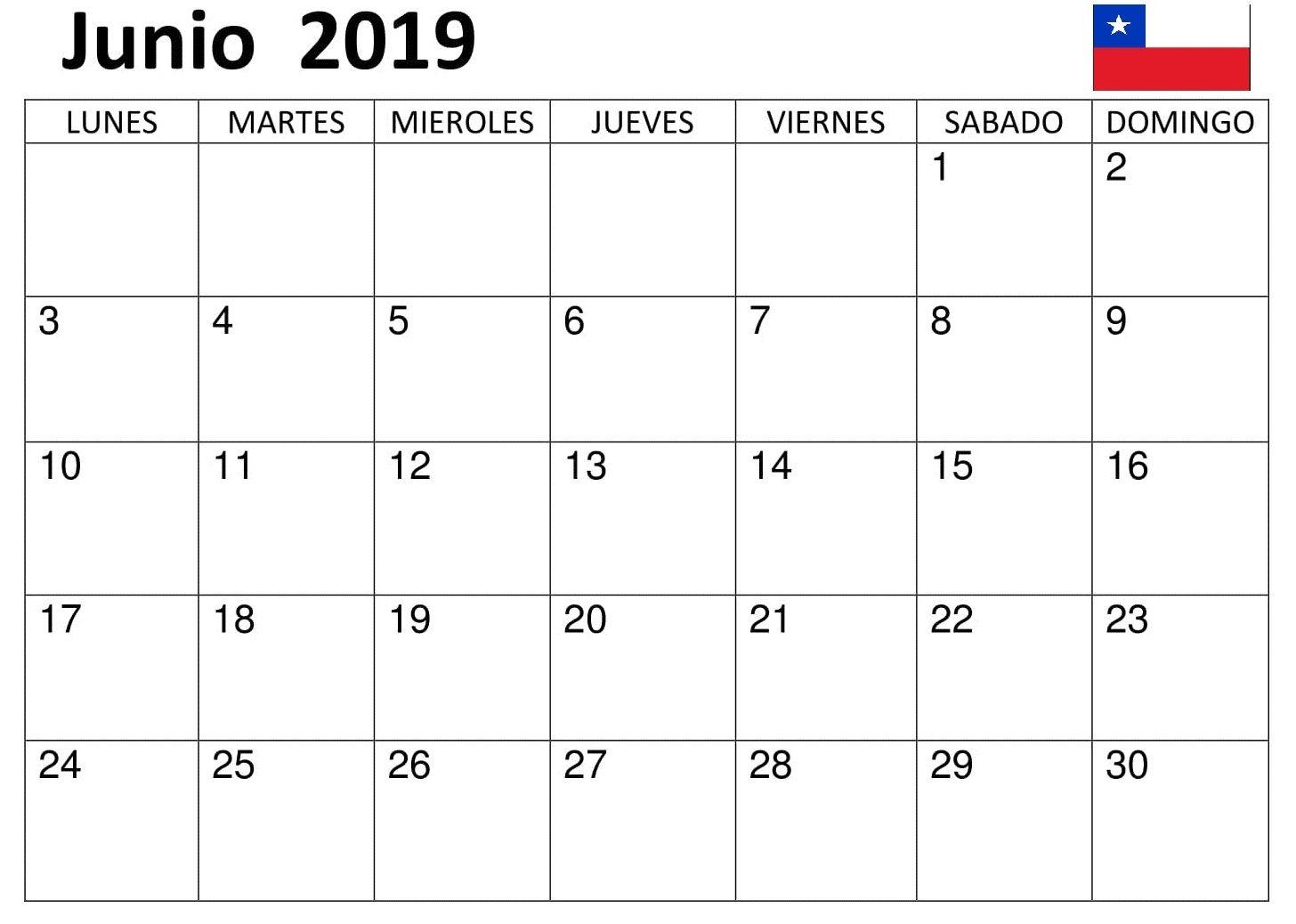Calendario Mes Junio 2019.Top 10 Punto Medio Noticias Calendario Mes De Junio 2019 Chile