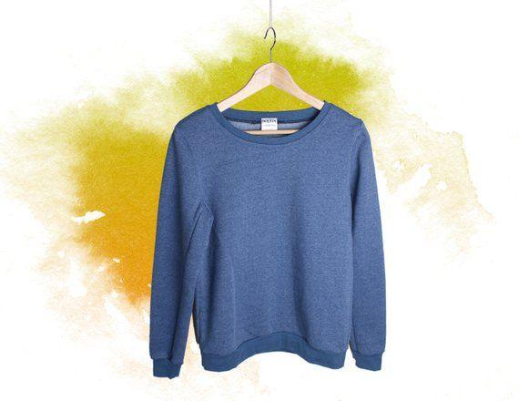 timeless design 9a64b b4e4c Damen Pullover blau Grösse M, letztes Stück, Sweatshirt uni ...