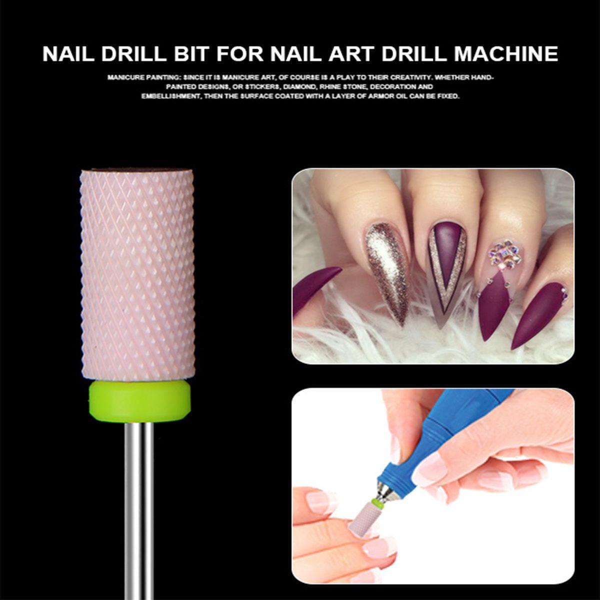 New Ceramic Nail Art Drill Bit For Electric Machine Nails Cuticle Gel Polish Remover Manicure