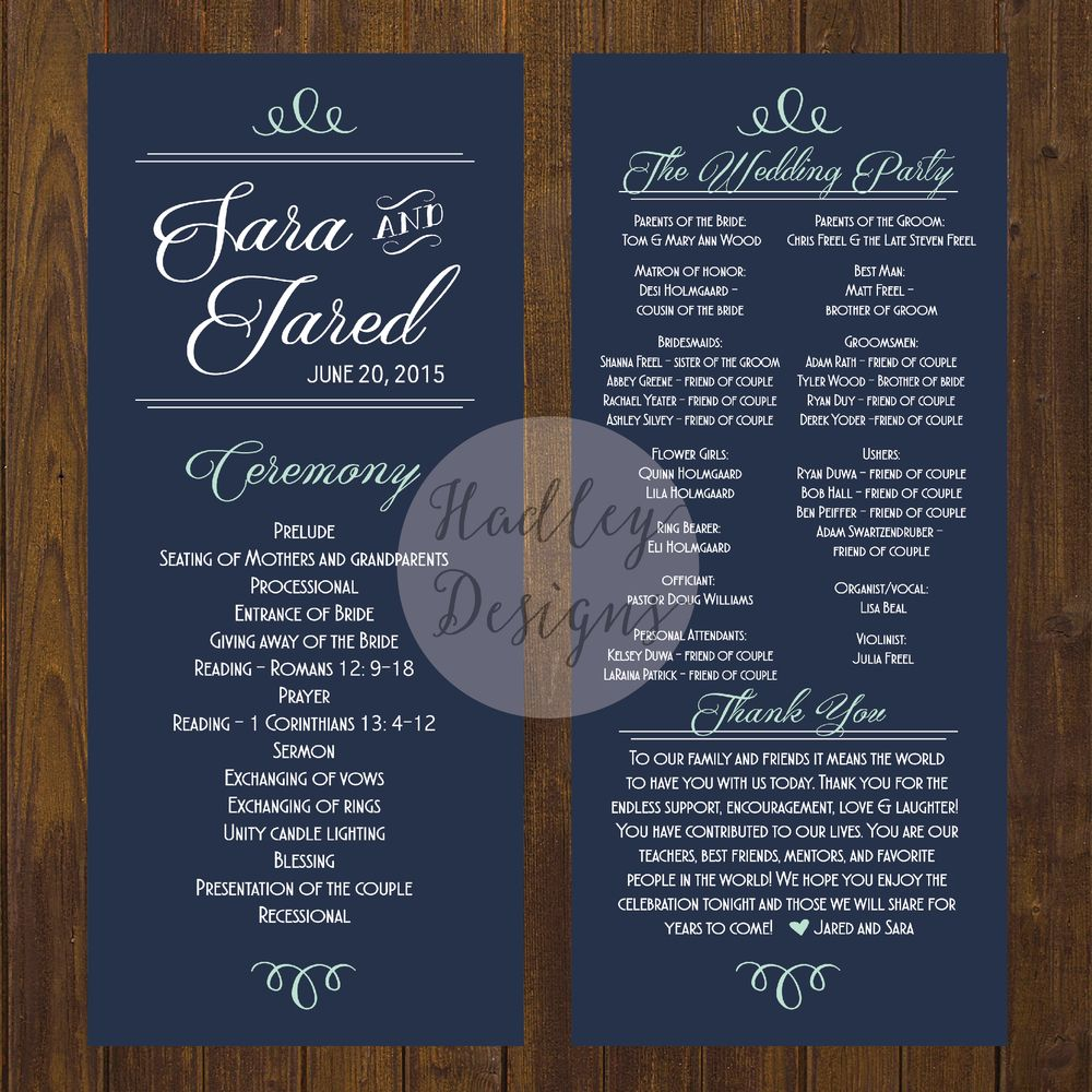Wedding Programs Wedding Ceremony Programs Wedding Program Ideas Sample Wedding Programs