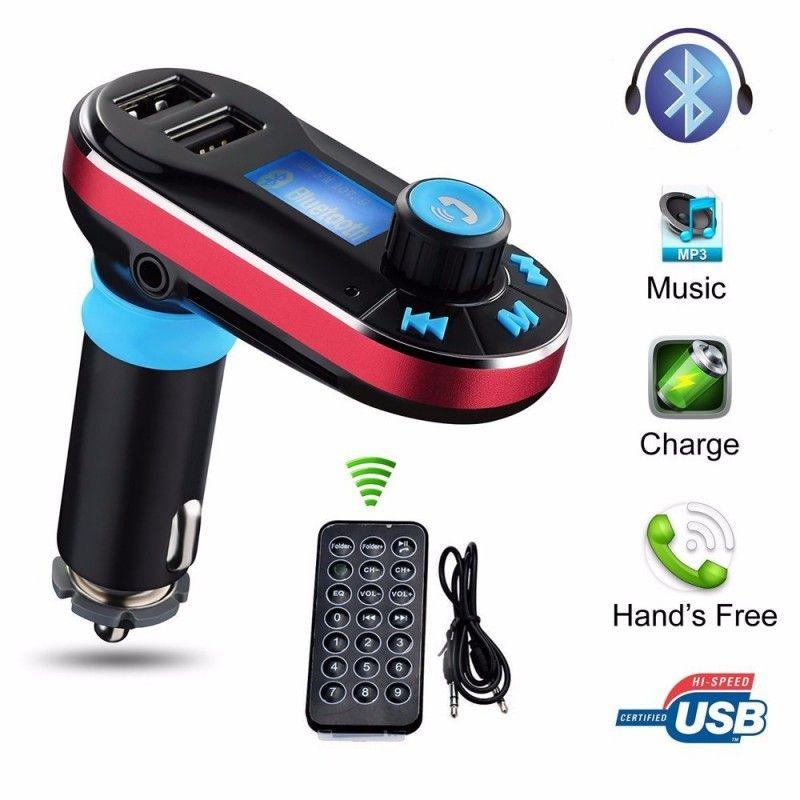 Bluetooth fm transmitter wireless mp3 player car kit 2 usb
