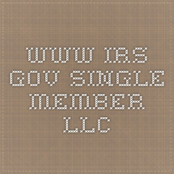 Irs Single Member Llc Taxes And Asset Protection