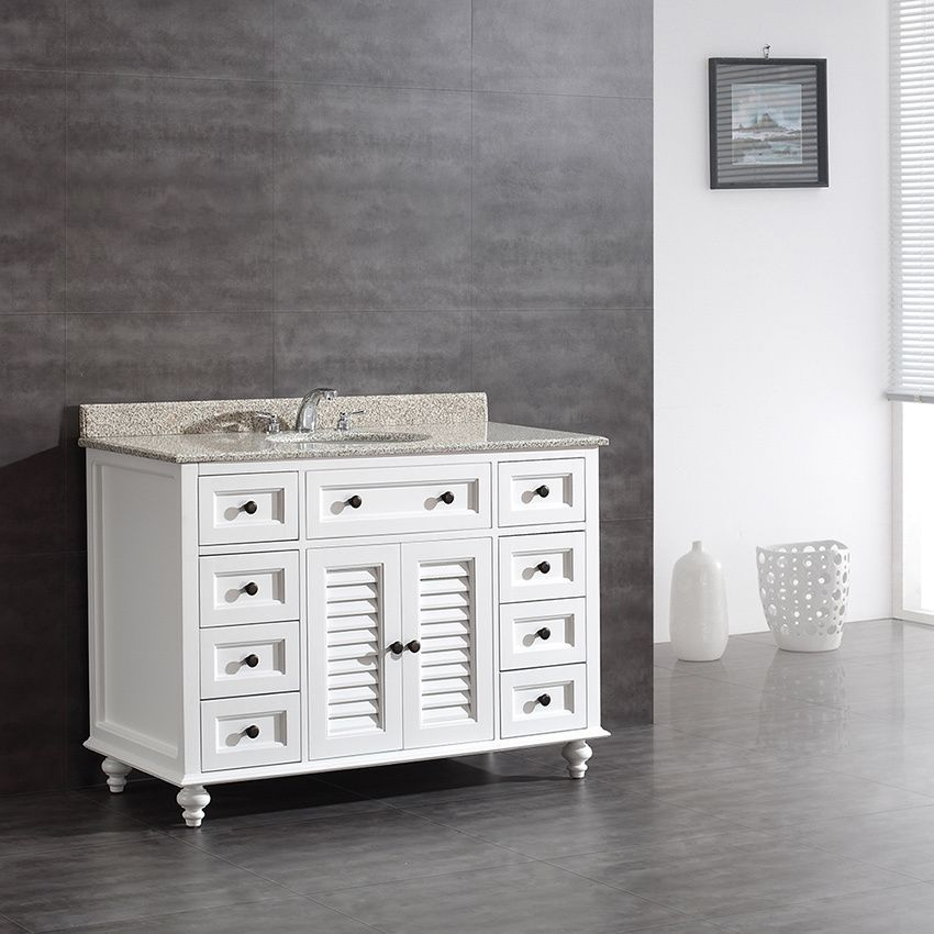 OVE Decors Heather 48-inch Single Sink Bathroom Vanity with Granite