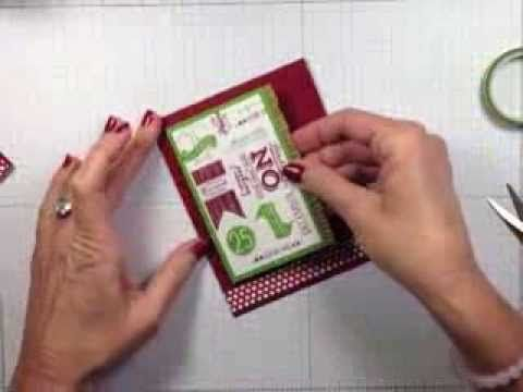 VIDEO TUTORIAL - Simply Simple FLASH CARD - Subway Style Holiday by Connie Stewart