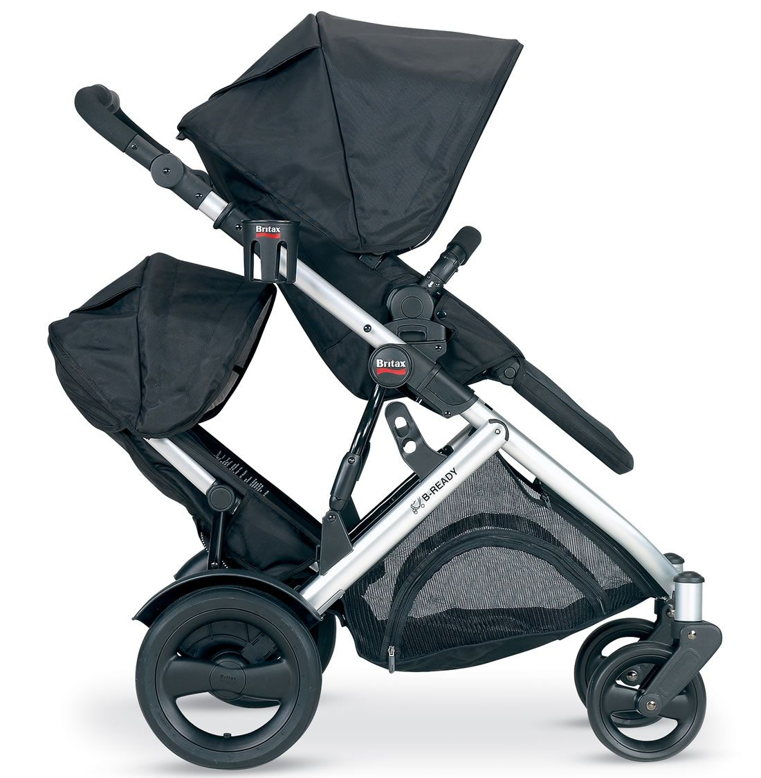 Britax 2012 BReady Stroller & Second Seat Black Best