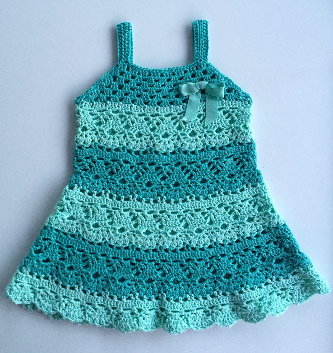 Babyjurkje gehaakt van Catania | Crochet Free Patterns | Pinterest