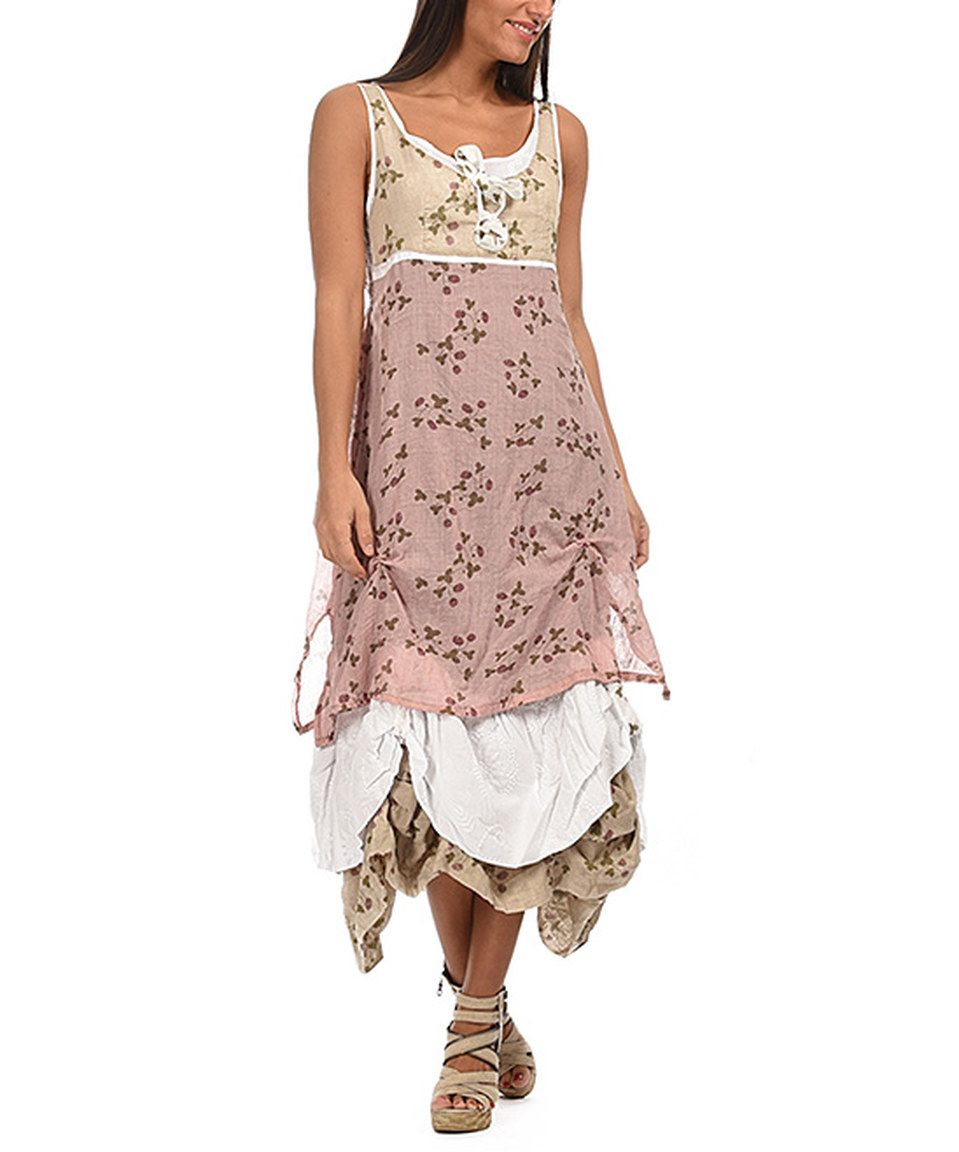 Another great find on zulily light pink u beige floral drapehem