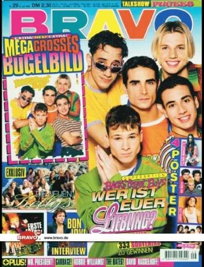 Bravo Boys bravo 29 96 11 07 1996 backstreet boys family the