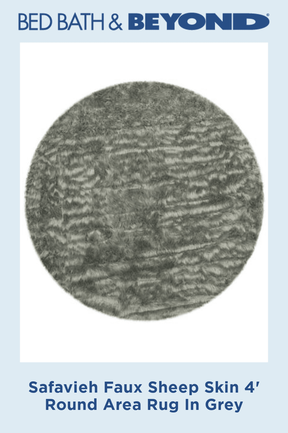 Safavieh Faux Sheep Skin 4 Foot Round Area Rug In Grey Round