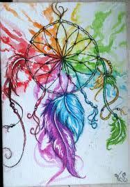 69e30256ce388 Resultado de imagen para cuadro pintado con atrapa sueños Atrapasueños  Dibujo