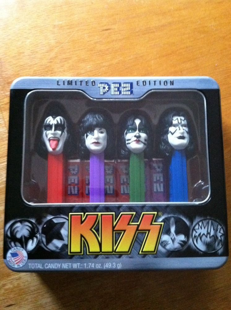 PEZ, KISS Gift Tin Dispensers, Limited Edition