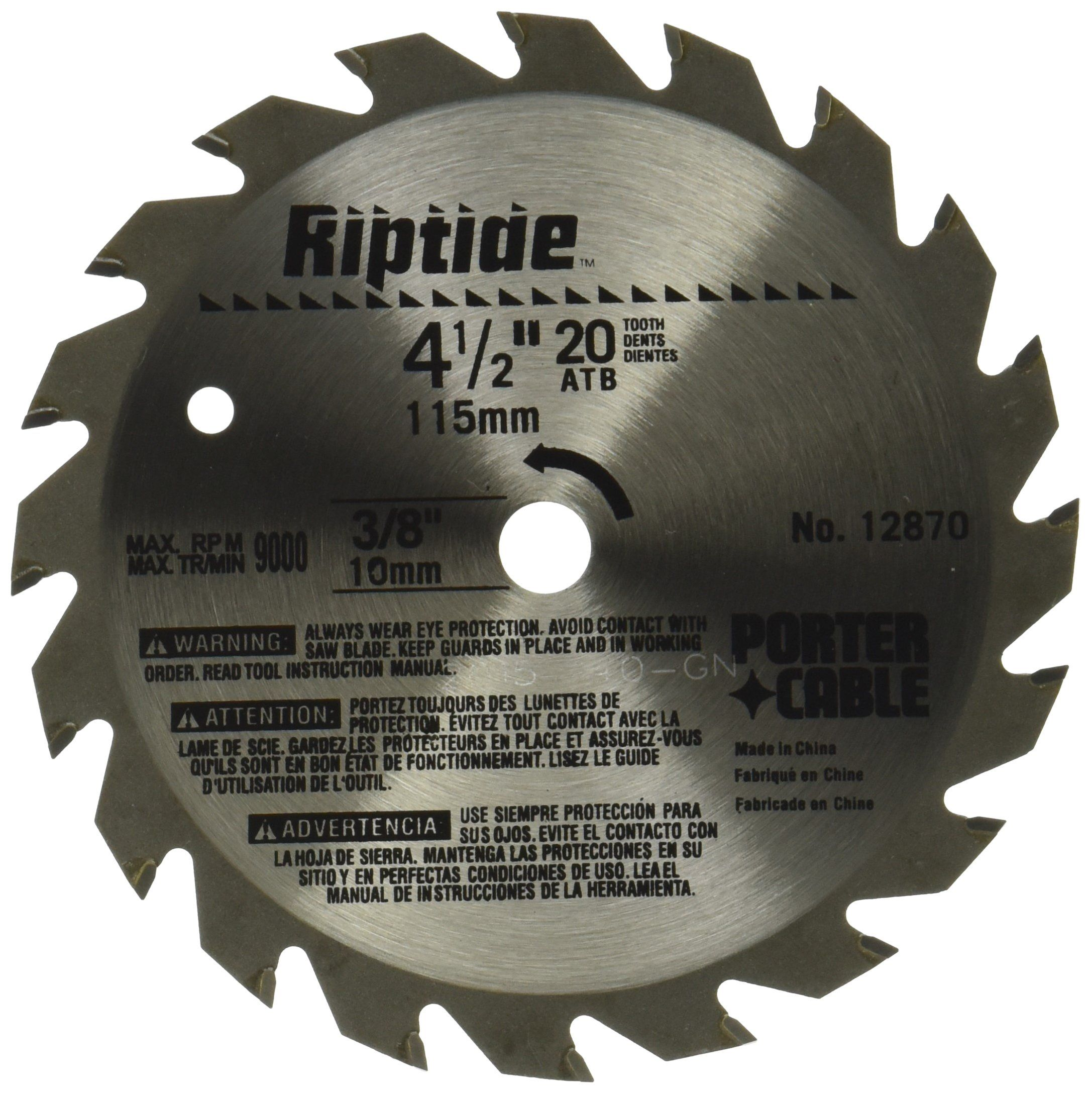 Portercable 12870 Riptide 41 2inch 20 Tooth Atb Thin Kerf General Purpose Saw Blade With 3 8inch Arbor You Could Locate More D In 2020 Porter Cable Saw Blade Blade