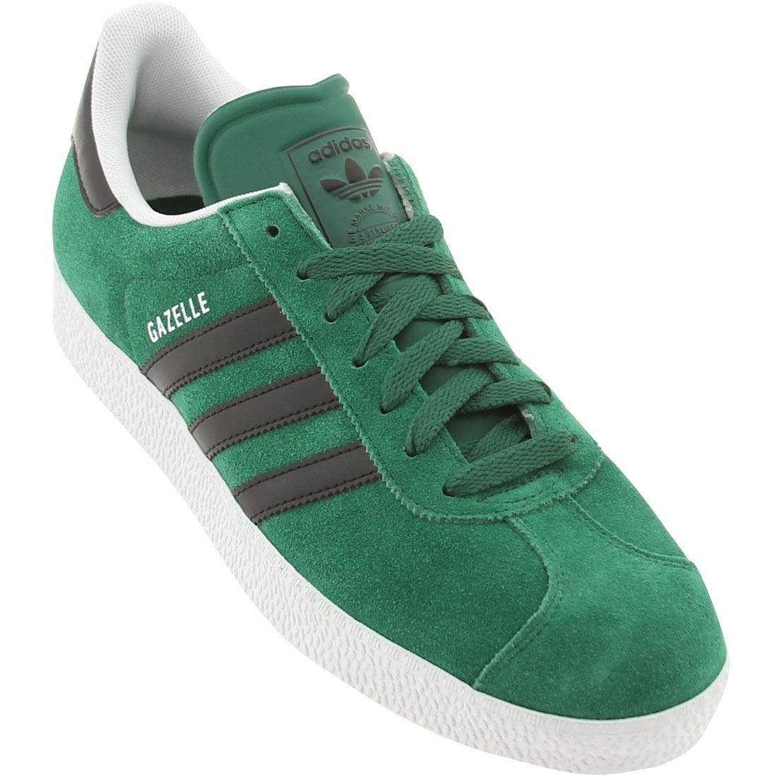 Mens Adidas Gazelle Ii Dark Green/Black/White Trainers