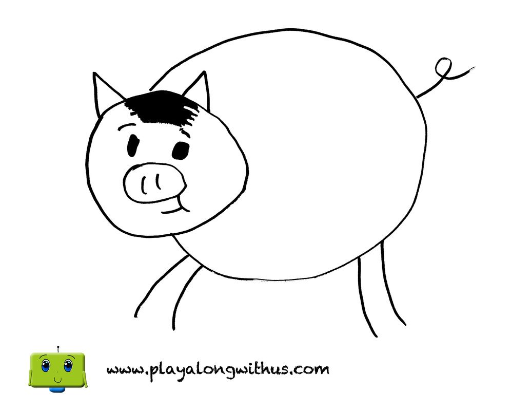 Pig From Old Macdonald S Farm Coloring Page Www Playalongwithus