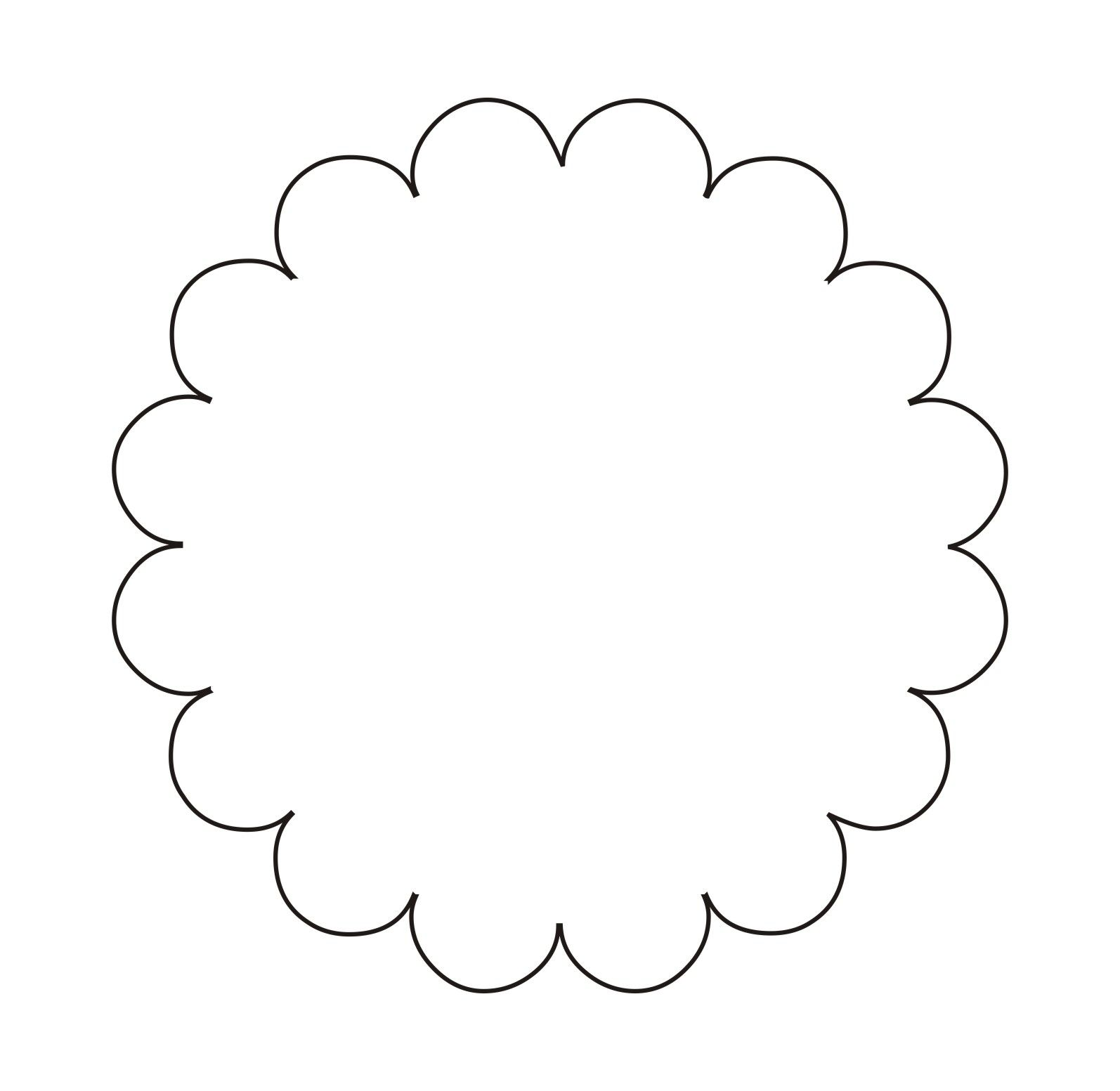 Circular Scalloped Tag Template