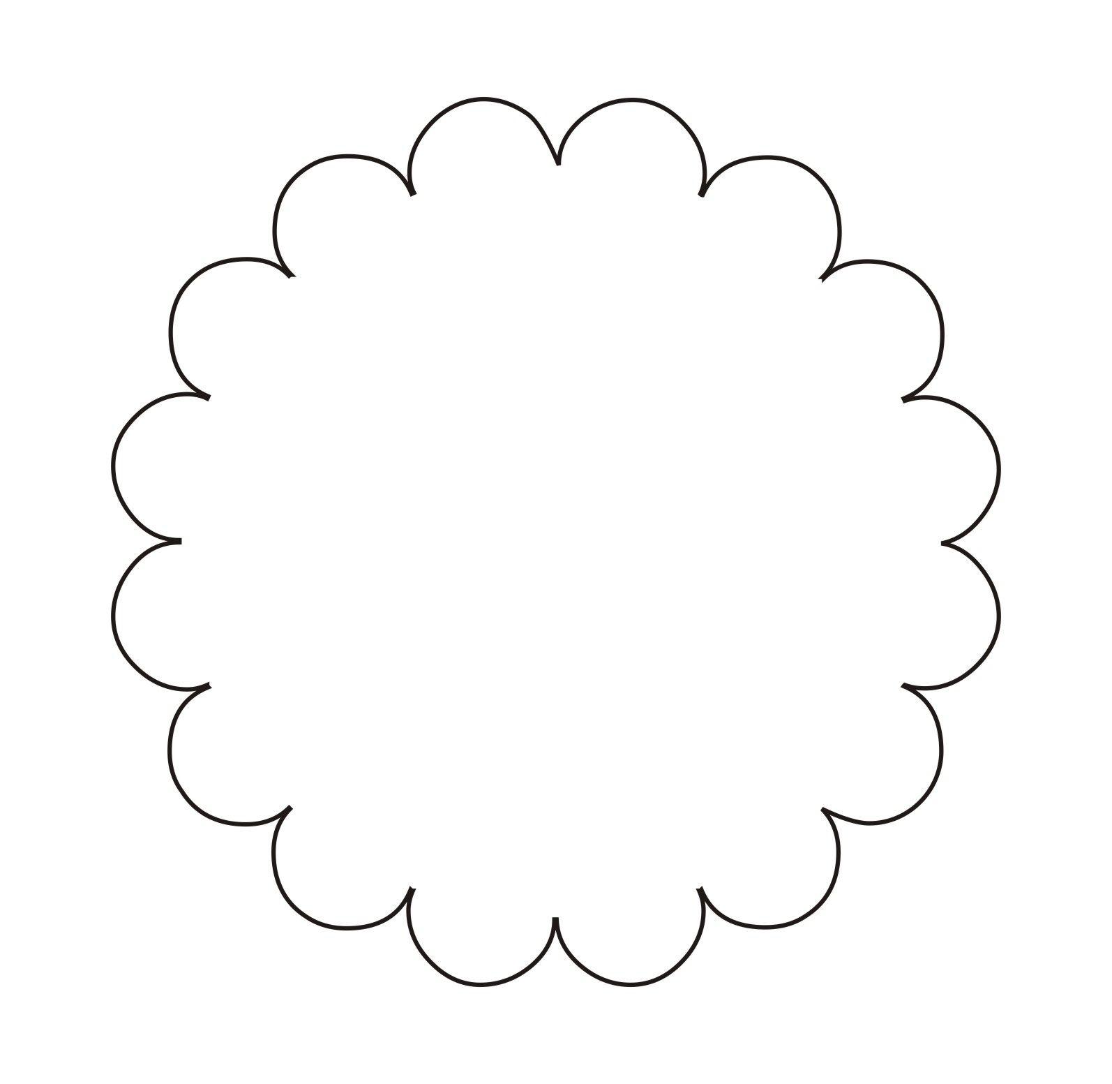 Scalloped Circle Vector Png