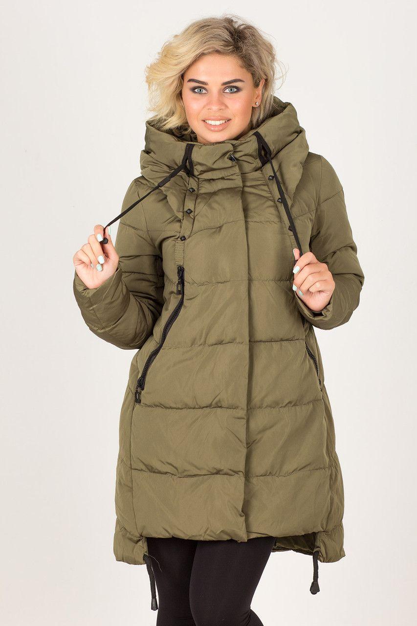 8c163fccae4 Куртка(парка) женская без меха с вышивкой на спине T.Y Camille №517 ...