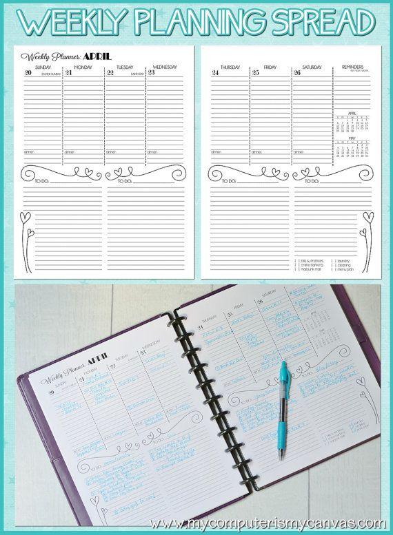 2014 (JAN-DEC) Personal Monthly/Weekly Planner - Printable Instant