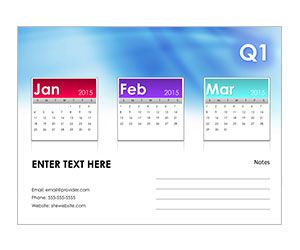 Quarterly Calendar Snapshot Get This Free Printable