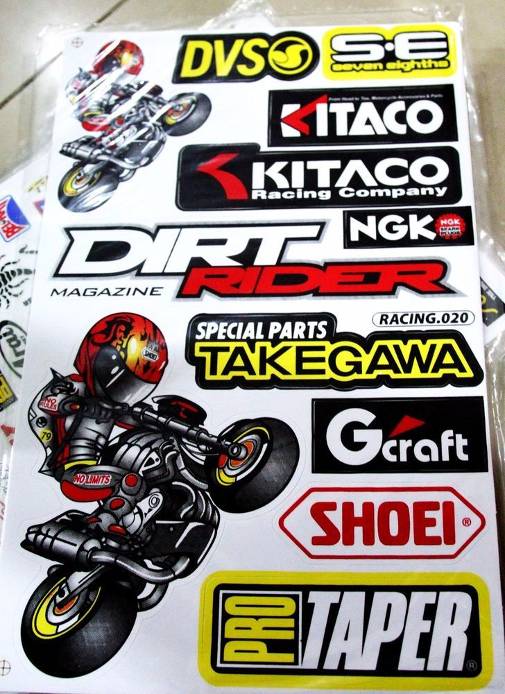 Mx mtx dirtbike sticker decals 48 stickers free shipping