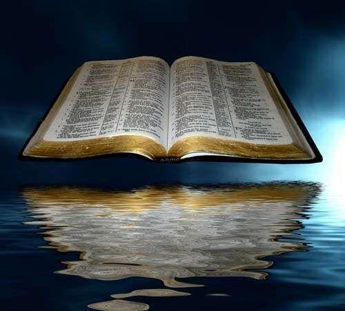 Esta Hermosa Gráfica De Una Biblia Abierta Reflejada En Aguas