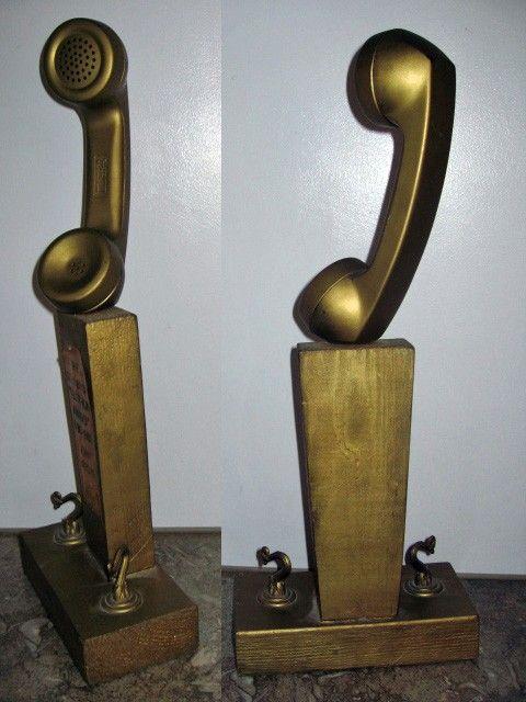 1980s Telephone Trophy Award Diy Kitsch Student