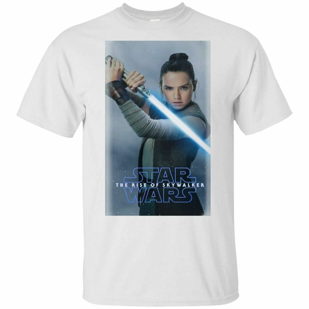 Star Wars Episode 9 The Rise Of Skywalker Rey Fighter T Shirt White Mens Womens Fashion Clothing Shoes Accesso Star Wars Shoes Star Wars Merch Love T Shirt