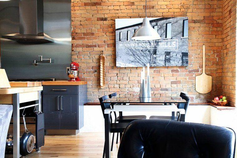 Déco salle à manger avec mur brique  50 idées originales House