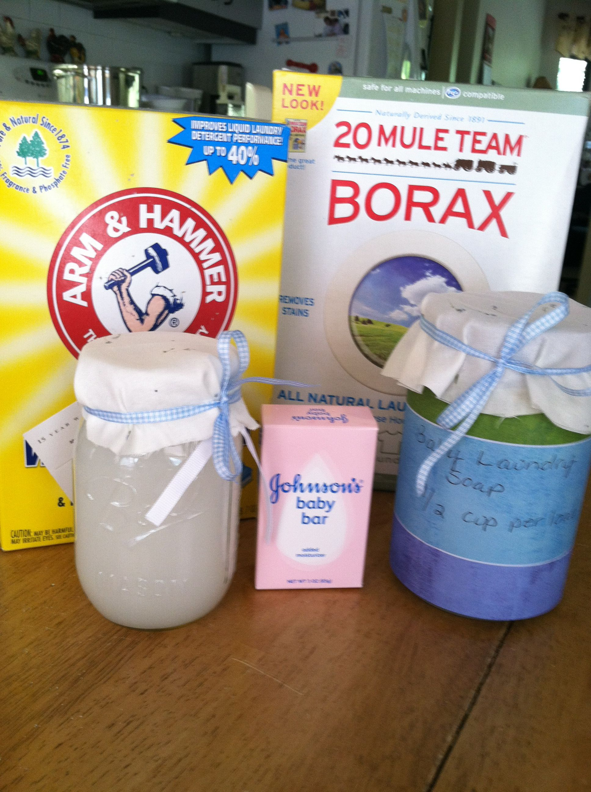 Holly's Homemade Baby Laundry Detergent; I use for whole family plus add 1/2 bar of Fels Naptha
