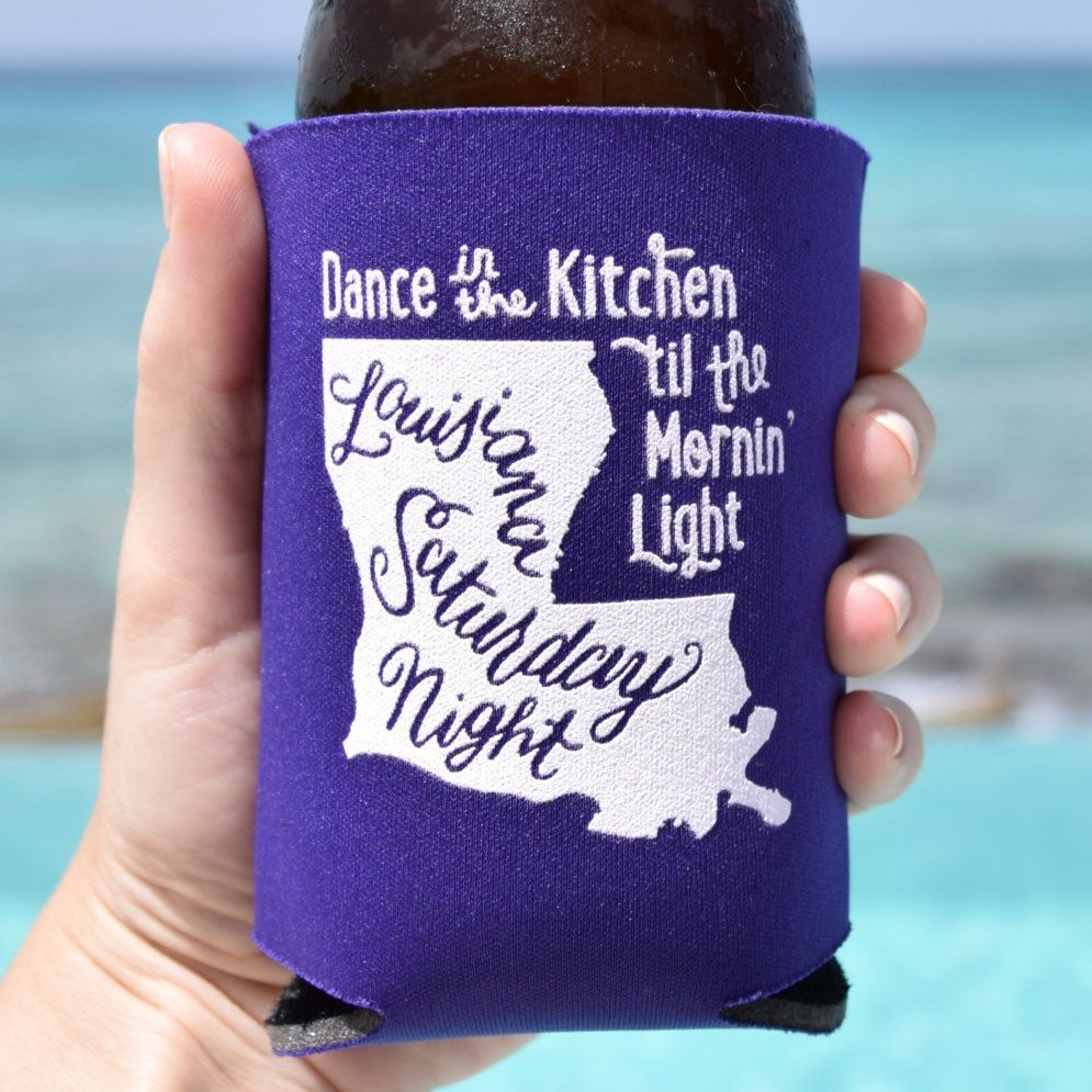 Personalized Louisiana Koozie Wedding Favors 30 Color Options