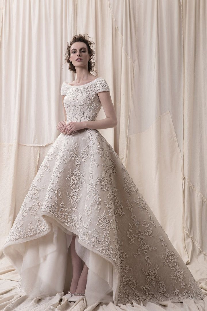 Krikor Jabotian 2018 bridal collection - sophisticated wedding dresses with impeccable detailing #weddingdress #weddinggowns #weddingdresses #longsleeve embellished bodice high and low wedding dress Krikor Jabotian 2018 Wedding Dresses - sophisticated wedding dresses with impeccable detailing #weddingdress #weddinggowns #weddingdresses #longsleeve embellished bodice princess ball gown wedding dress Krikor Jabotian 2018 Wedding Dresses