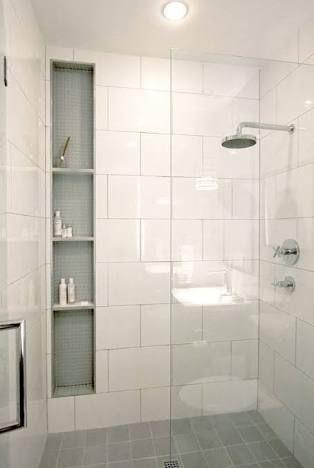 Image result for large white wall tiles bathroom bathroom